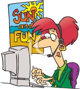 Royalty Free Clipart Image of a Travel Agent