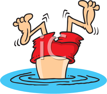 Royalty Free Clipart Image of a Bad Dive