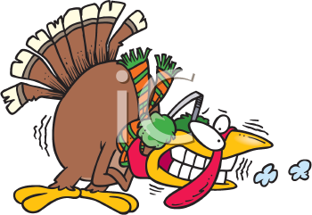 Royalty Free Clipart Image of a Cold Turkey