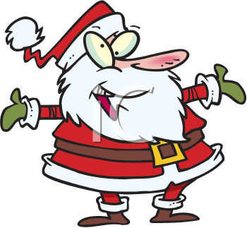 Royalty Free Clipart Image of Santa