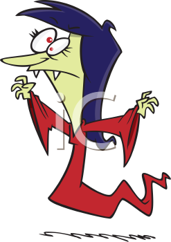 Royalty Free Clipart Image of a Vampire