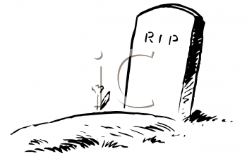 Royalty Free Clipart Image of a Gravesite
