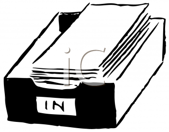 Royalty Free Clipart Image of an Inbox