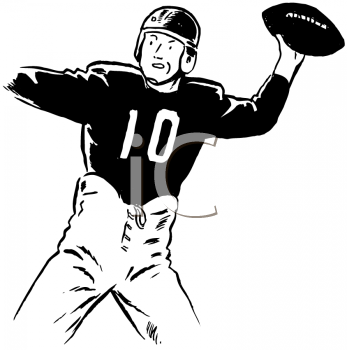 Royalty Free Clipart Image of a Quarterback