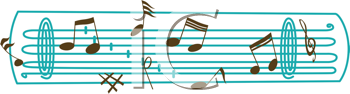 Royalty Free Clipart Image of Music Notes