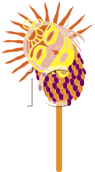 Royalty Free Clipart Image of a Mask