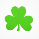 Royalty Free Photo of a Single Green Paper Shamrock