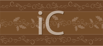 Royalty Free Clipart Image of a Fall Banner Border