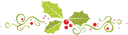 Royalty Free Clipart Image of a Holly Trio Banner