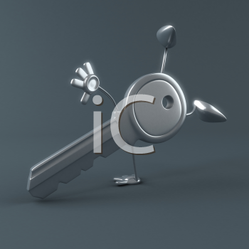 Royalty Free Clipart Image of a Key