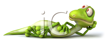 Royalty Free Clipart Image of a Lizard