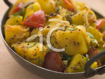 Royalty Free Photo of Bombay Aloo, Curried Potatoes