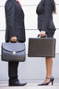 Royalty Free Photo of Two Businesspeople With Briefcases