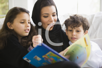 Royalty Free Photo of a Woman With Her Children