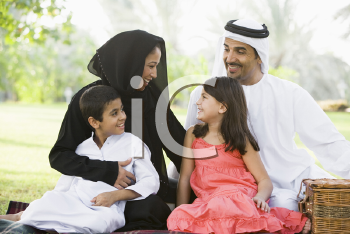 Royalty Free Photo of a Family Outdoors