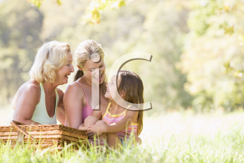 Royalty Free Photo of Three Generations of Women on a Picnic