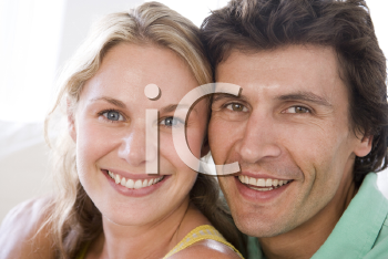 Royalty Free Photo of a Couple Smiling