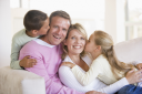 Royalty Free Photo of a Family at Home