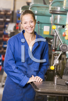 Royalty Free Photo of a Female Machinist