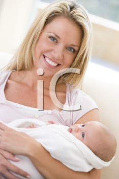 Royalty Free Photo of a Mother and Baby