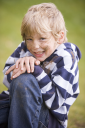 Royalty Free Photo of a Little Boy With a Dirty Face