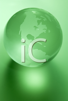Royalty Free Photo of a Green Globe