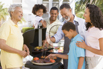 Royalty Free Photo of a Family Barbecue