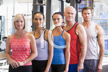 Royalty Free Photo of People at a Gym