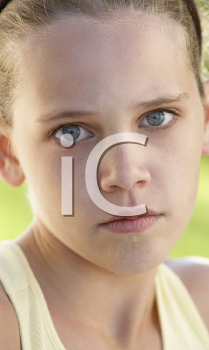Royalty Free Photo of a Frightened Girl