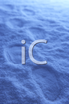 Royalty Free Photo of Footprints in Snow