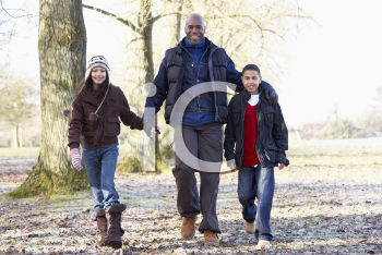 Royalty Free Photo of a Father With His Children