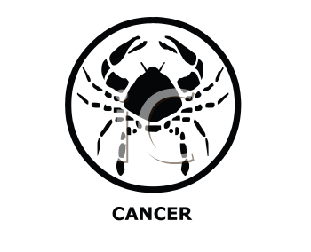 Royalty Free Clipart Image of a Cancer Symbol
