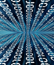 Abstract binary code background