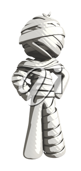 Mummy or Personal Injury Concept with Hands on Hips