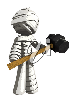 Mummy or Personal Injury Concept with Large Sledge Hammer
