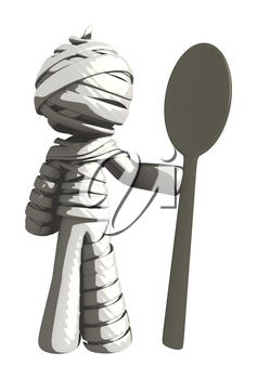 Mummy or Personal Injury Concept with Large Spoon