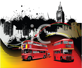 Royalty Free Clipart Image of London Sights