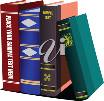 Library shelf book. Vector illustration