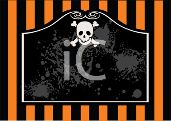 Royalty Free Clipart Image of  a Halloween Banner
