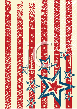 Royalty Free Clipart Image of a USA Themes Background