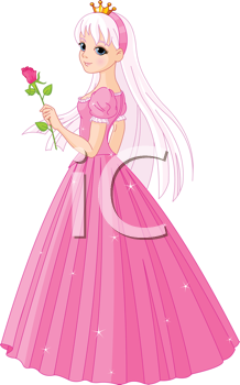 Royalty Free Clipart Image of a Beautiful Princess