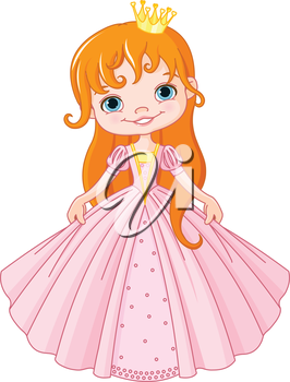 Royalty Free Clipart Image of a Little Princess