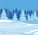 Royalty Free Clipart Image of a Winter Scene