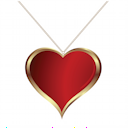 Royalty Free Clipart Image of a Heart Shaped Gold Medallion