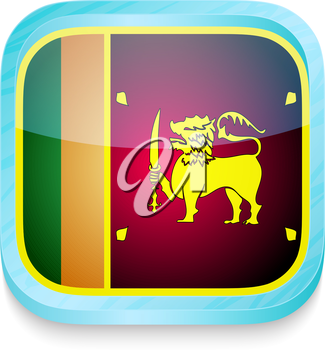 Smart phone button with Sri Lanka flag