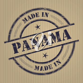 Made in Panama grunge rubber stamp