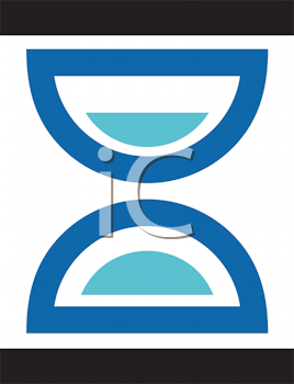 Royalty Free Clipart Image of an Hourglass Design