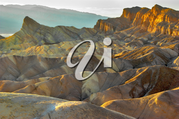 Royalty Free Photo of Zabriskie Point in Death Valley National Park