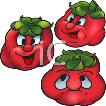 Royalty Free Clipart Image of Tomatoes