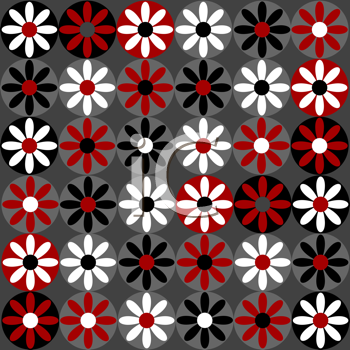 Flowers isolated in circles
